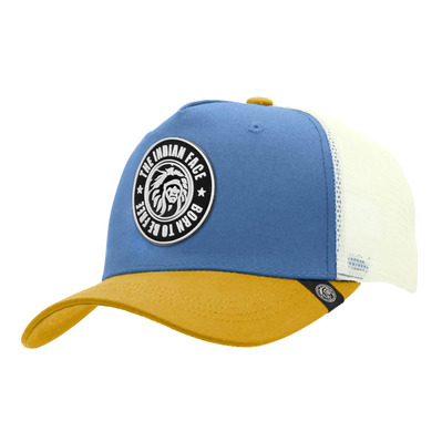 THE INDIAN FACE - BORN TO BE FREE - Casquette blue/yellow/white