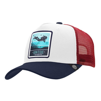 THE INDIAN FACE - BORN TO SCUBA DIVE - Cap - white/blue/red