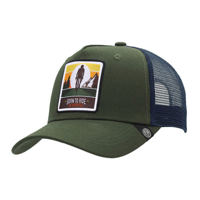 THE INDIAN FACE - BORN TO RIDE - Cap - green / blue