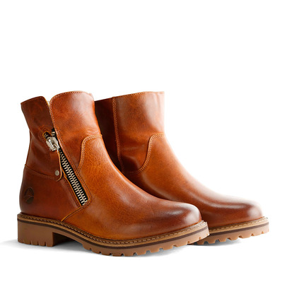 TRAVELIN' - VARTAE - Ankle Boots - Women's - cognac