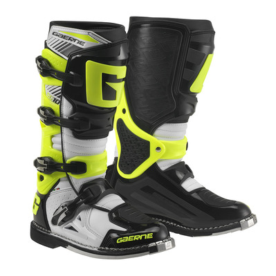 GAERNE - SG.10 - Bottes off-road Homme white/black/yellow