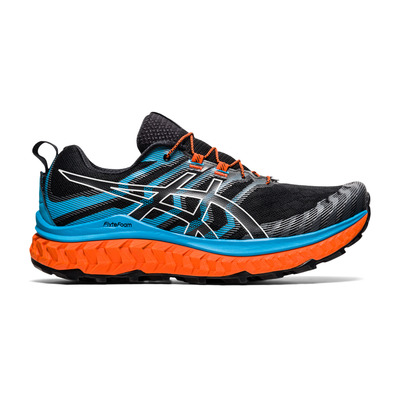 ASICS - TRABUCO MAX - Trail Shoes - Men's - black/digital aqua
