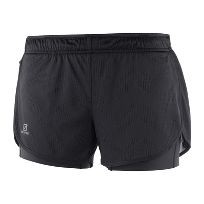 SALOMON - AGILE - Short 2 in 1 Donna black