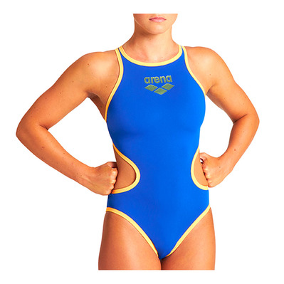 ARENA - ONE BIGLOGO - Maillot de bain Femme neon blue/orange