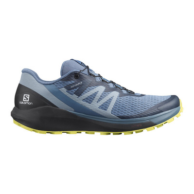 SALOMON - SENSE RIDE 4 - Zapatillas de trail hombre copen blue/black/evening primrose
