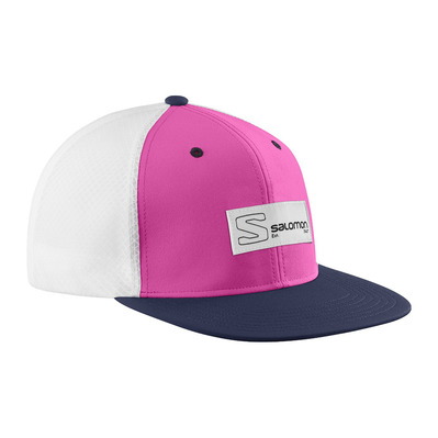 SALOMON - TRUCKER FLAT - Casquette fuchsi/night sky