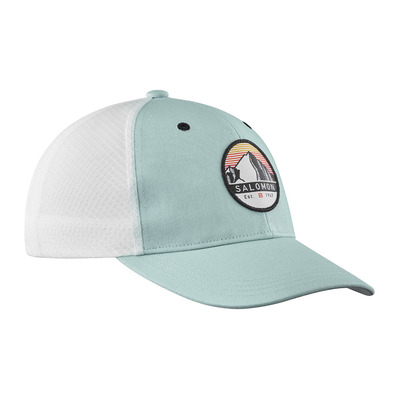 SALOMON - TRUCKER CURVED - Casquette gray/white