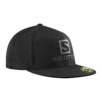 SALOMON - LOGO FLEXFIT - Casquette black