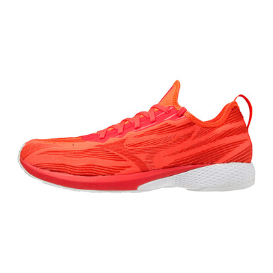 MIZUNO - WAVE AERO 19 - Chaussures running Homme ignition red/fiery red/white