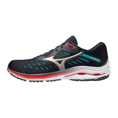 MIZUNO - WAVE RIDER 24 - Chaussures running Homme india ink/platinum gold/scuba blue