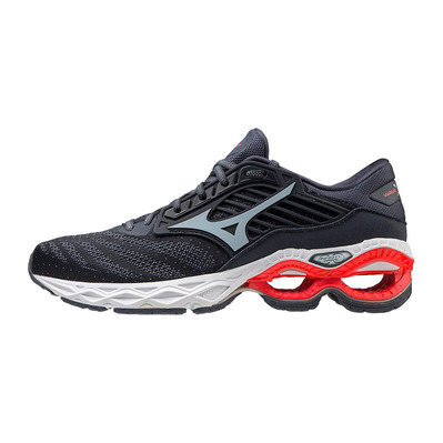 MIZUNO - WAVE CREATION 22 - Chaussures running Homme india ink/wan blue/ignition red