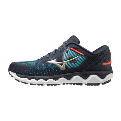 MIZUNO - WAVE HORIZON 5 - Chaussures running Homme india ink/platinum gold/mykonos blue