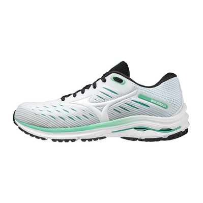 MIZUNO - WAVE RIDER 24 - Running Shoes - Women's - white/white/jade cream