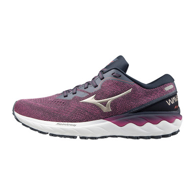 MIZUNO - WAVE SKYRISE 2 - Running Shoes - Women's - ibis rose/platinum gold/india ink