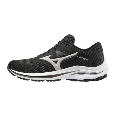 MIZUNO - WAVE INSPIRE 17 - Chaussures running Femme black/lunar rock/black