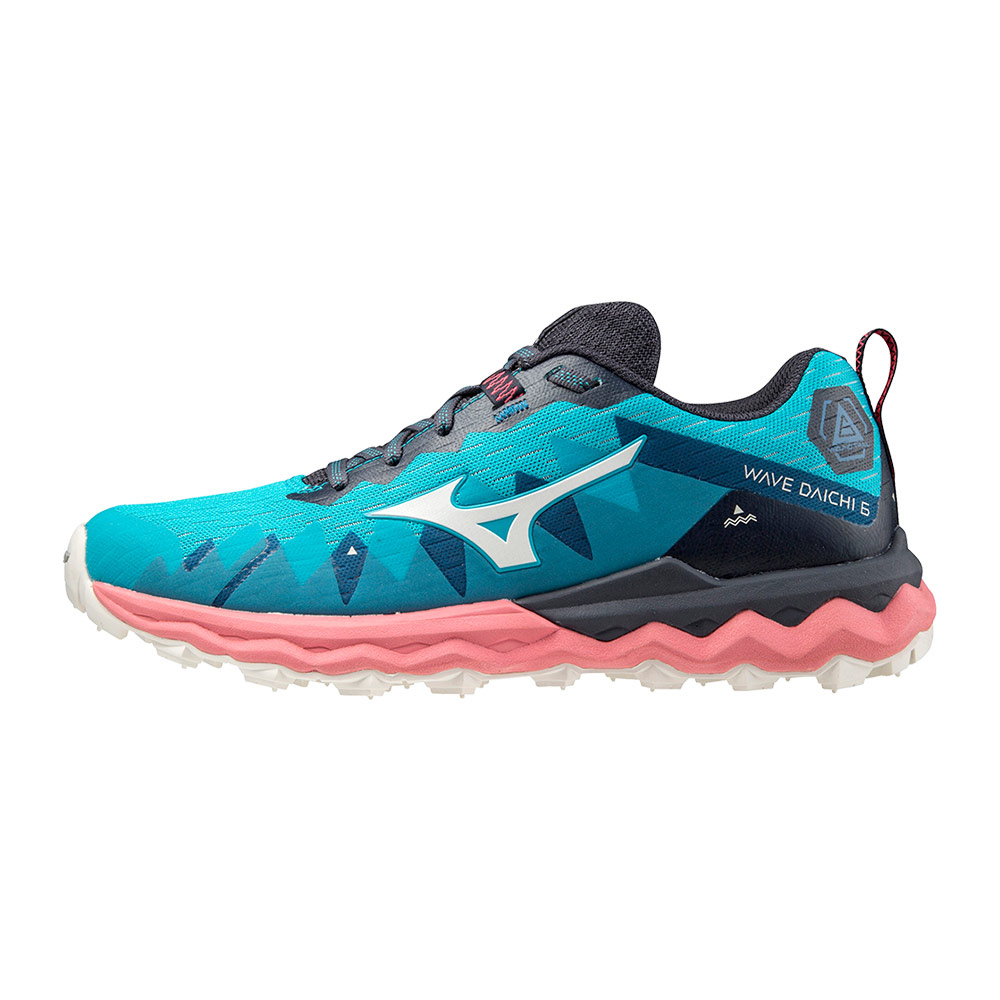 MIZUNO - Mizuno WAVE DAICHI 6 - Trailrunning-Schuhe - Frauen - scuba blue/snow white/tea rose