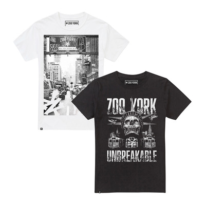 ZOO YORK - CORTLAND / WELCOME TO ZY - T-Shirt x2 - Männer - multi