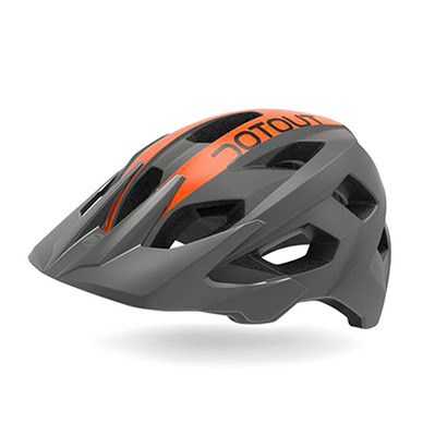 DOTOUT - HAMMER - MTB Helm - grey dark mat/orange mat