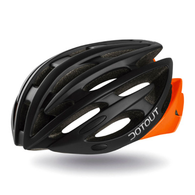 DOTOUT - SHOY - Rennradhelm - matte black/shiny orange fluor
