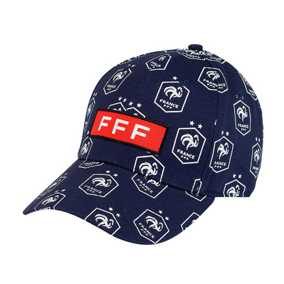 FFF - ALL OVER - Casquette Junior navy