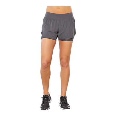 ASICS - SPORT 2-IN-1 COOL - Short mujer dark grey