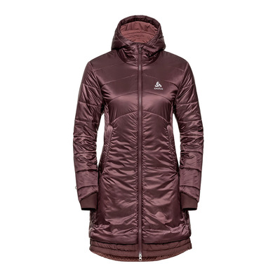 ODLO - PARKA COCOON S-THERMIC WARM - Doudoune Femme decadent chocolate