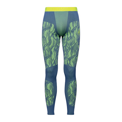 ODLO - BL BOTTOM LONG BLACKCOMB - Collant Homme bering sea/safety yellow
