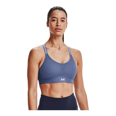 UNDER ARMOUR - INFINITY MID - Brassière Femme blue