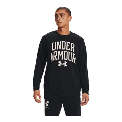 UNDER ARMOUR - RIVAL TERRY CREW - Sweat Homme black