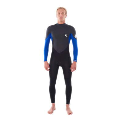 RIP CURL - OMEGA BACK ZIP - Combinaison 3/2mm Homme blue