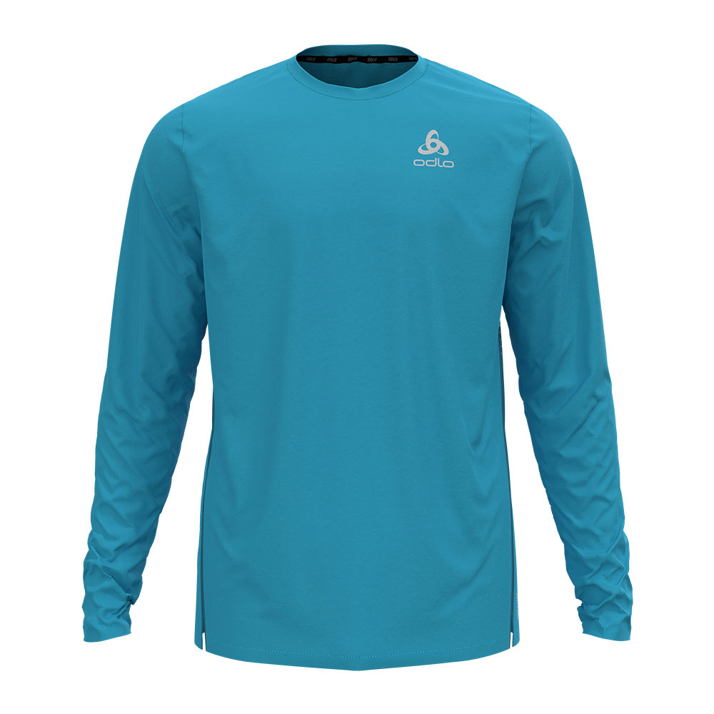 ODLO - T-shirt l/s crew neck ZEROWEIGHT CHILL-T Homme horizon blue