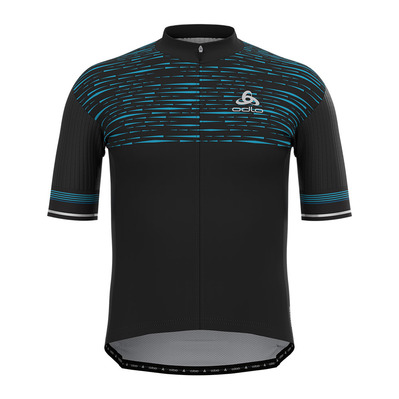 ODLO - ZEROWEIGHT CERAMICOOL PRO - Maillot Homme black/graphic ss21