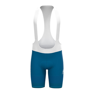 ODLO - Tights short suspenders ZEROWEIGHT CERAM Homme mykonos blue - white