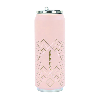 YOKO DESIGN - ART DECO - Canette isotherme 500ml pink art