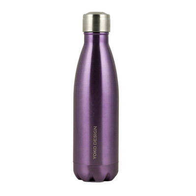 YOKO DESIGN - BRILLANT - Bouteille isotherme 500ml purple metal