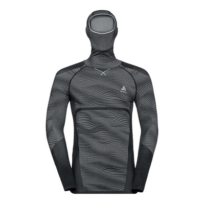 ODLO - PERFORMANCE BLACKCOMB FACE - Sous-couche Homme black/concrete grey/silver