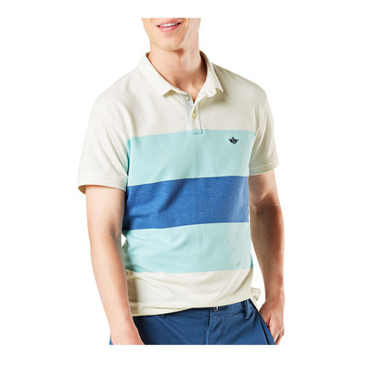DOCKERS - 360 RIDGEWAY PERFORMANCE VERSATILE - Polo hombre teal wave