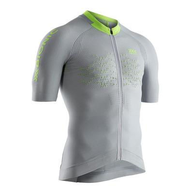 X-BIONIC - THE TRICK G2 BIKE ZIP - Camiseta hombre dolomite grey/phyton yellow