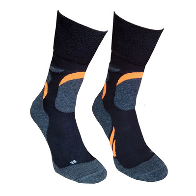 VIKING SPORT - MERINO - Chaussettes trekking black/orange