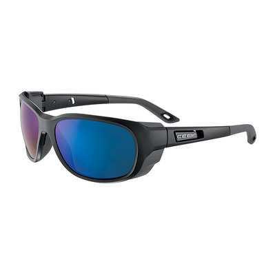 CEBE - EVEREST - Lunettes de soleil matte black/grey/peak grey blue