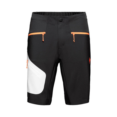 MAMMUT - SERTIG - Short Homme black-white-vibrant orange