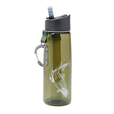 LIFESTRAW - GO 2 STAGES 650ML - Botella con filtro trout fish