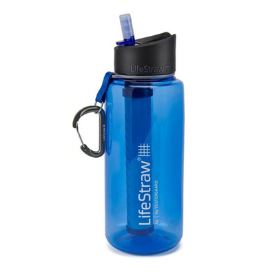 LIFESTRAW - GO 2 STAGES 1L - filtrierende Trinkflasche - blue