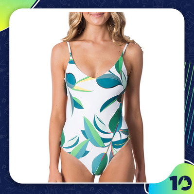 RIPCURL - PALM BAY - 1-Piece Swimsuit - Women's - white