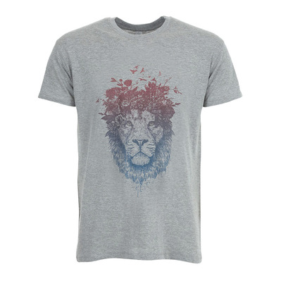 SOLTIB DESIGN - FLORAL LION - T-Shirt - Men's - heather grey