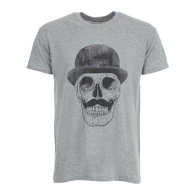 SOLTIB DESIGN - SKULL - T-Shirt - Men's - heather grey