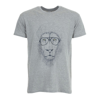 SOLTIB DESIGN - COOL LION - T-Shirt - Men's - heather grey