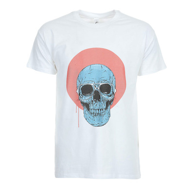 SOLTIB DESIGN - BLUE SKULL - T-Shirt - Men's - white