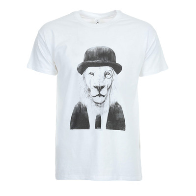 SOLTIB DESIGN - SIR LION - T-Shirt - Men's - white