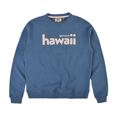 LIGHTNING BOLT - BIG SURF CREW - Sweatshirt - Männer - majolica blue